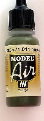 71011 Vallejo Model Airbrush Paint 17 ml Tank Green