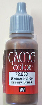 72058 Vallejo Game Color Paint: 17ml Brassy Brass