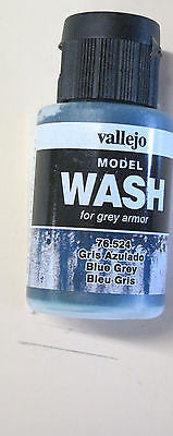 76524 Blue Grey Vallejo Wash Paint: 35ml