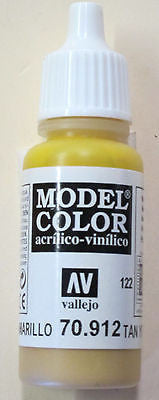 70912 Vallejo Model Color Paint: 17ml Tan Yellow  (M122)
