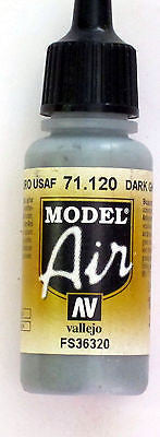 71120 Vallejo Model Airbrush Paint 17 ml USAF Medium Grey