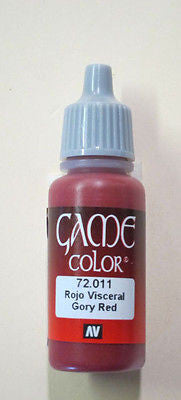 72011 Vallejo Game Color Paint: 17ml  Gory Red