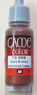 72059 Vallejo Game Color Paint: 17ml Hammered Copper
