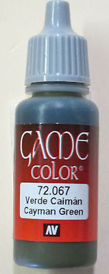 72067 Vallejo Game Color Paint: 17ml Cayman Green