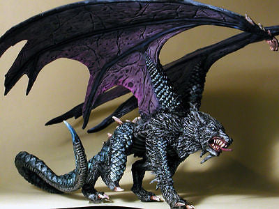 Kit# VEL4009 Malryte, Half Dragon, Dire Wolf - Metal Version