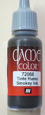 72068 Vallejo Game Color Paint: 17ml Smoky Ink