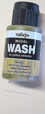 76503 Dark Yellow Vallejo Wash Paint: 35ml