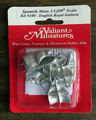 Valiant Miniatures Spanish Main Kit# 9100 - English Royal Galleon - 2 Ships
