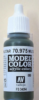 70975 Vallejo Model Color Paint: 17ml Military Green  (M089)