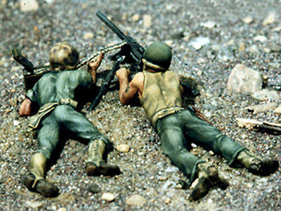 Kit# 9827 - USMC Machine Gunners