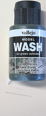 76512 Dark Green Vallejo Wash Paint: 35ml