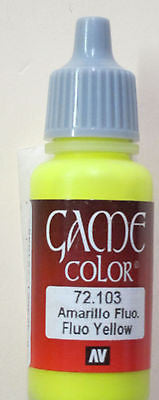 72103 Vallejo Game Color Paint: 17ml Fluorescent Yellow