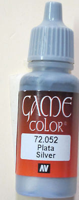 72052 Vallejo Game Color Paint: 17ml  Mithril Silver