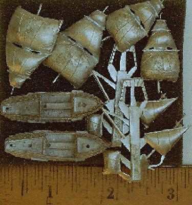 Valiant Miniatures Spanish Main Kit# 9103 - Carrack Ships