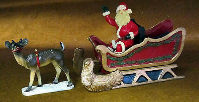 Kit# 9600set Santa's Magical Flying Sleigh Set Hobby Kit - Unpainted Pewter & Resin 4 Pieces