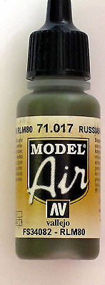71017 Vallejo Model Airbrush Paint 17 ml Russian Green