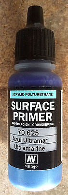 70625 Vallejo Ultramarine Surface Airbrush Primer 17ml Acrylic-Polyurethane
