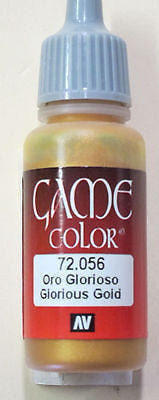 72056 Vallejo Game Color Paint: 17ml Glorious Gold