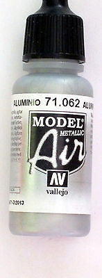 71062 Vallejo Model Airbrush Paint 17 ml Metallic Aluminium