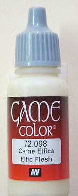 72098 Vallejo Game Color Paint: 17ml Elfic Flesh