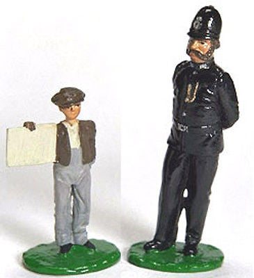 Kit# 9956 - London Bobby & News Boy