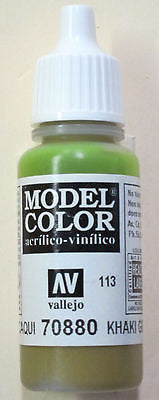 70880 Vallejo Model Color Paint: 17ml Khaki Grey  (M113)