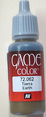 72062 Vallejo Game Color Paint: 17ml Earth