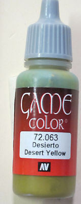 72063 Vallejo Game Color Paint: 17ml Desert Yellow