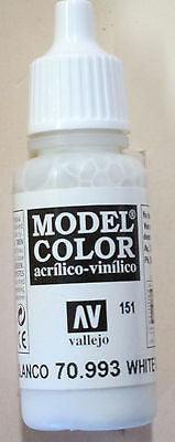 70993 Vallejo Model Color Paint: 17ml White Grey  (M151)