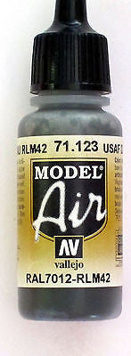71123 Vallejo Model Airbrush Paint 17 ml USAF Dark Grey