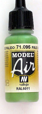 71095 Vallejo Model Airbrush Paint 17 ml Pale Green