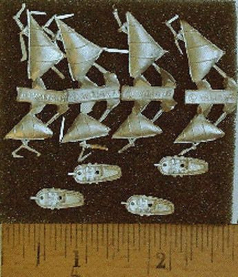 Valiant Miniatures Spanish Main Kit# 9109 - Pinnaces