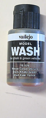 76520 Dark Khaki Green Vallejo Wash Paint: 35ml