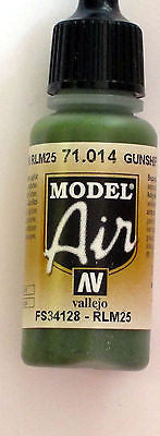 71014 Vallejo Model Airbrush Paint 17 ml Gunship Green