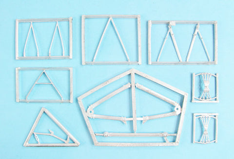 SAC 32127 Jeannin Stahltaube Landing Gear & Wire Supts for 1/32nd Wingnut Wings