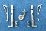 SAC 48076 He 129 Landing Gear For 1/48th Scale Hasegawa or Revell Model