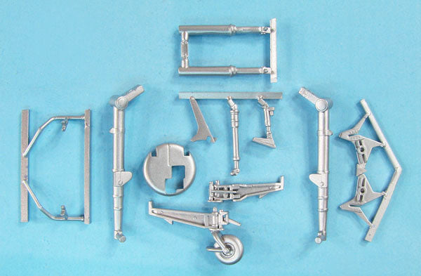 SAC 48321 AH-64D Apache Landing Gear for 1/48th Scale Hasegawa Model