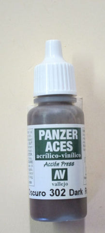 70302 Vallejo Panzer Color Paint: 17ml  Dark Rust