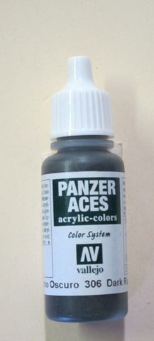 70306 Vallejo Panzer Color Paint: 17ml  Dark Rubber