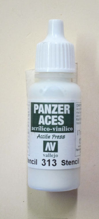 70313 Vallejo Panzer Color Paint: 17ml  Stencil