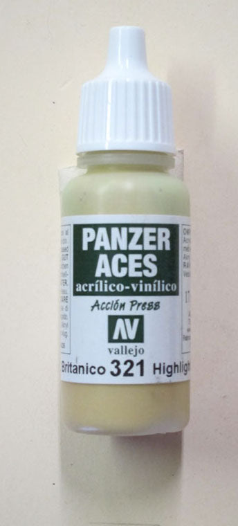 70321 Vallejo Panzer Color Paint: 17ml  British Tank Crew  Highlight