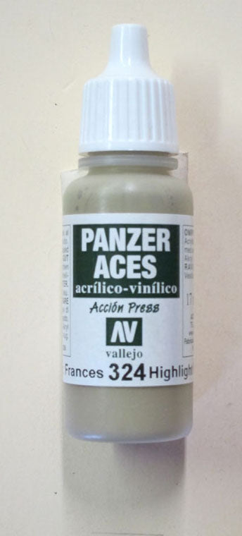 70324 Vallejo Panzer Color Paint: 17ml  French Tank Crew Highlight