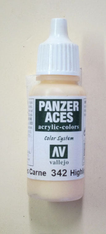 70342 Vallejo Panzer Color Paint: 17ml  Flesh Tank Crew Highlight