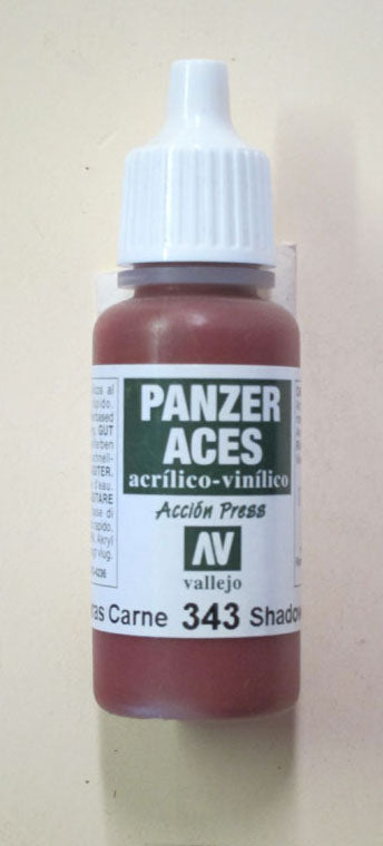 70343 Vallejo Panzer Color Paint: 17ml  Flesh Shadows