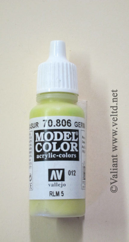 70806 Vallejo Model Color Paint: 17ml  German Yellow  (M012)