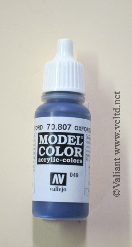 70807 Vallejo Model Color Paint: 17ml  Oxford Blue  (M049)