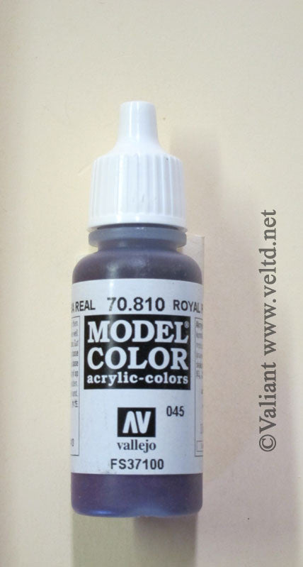 70810 Vallejo Model Color Paint: 17ml  Royal Purple  (M045)