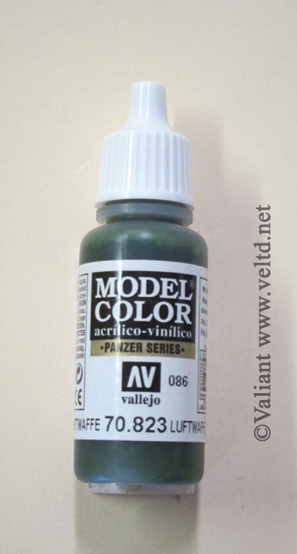 70823 Vallejo Model Color Paint: 17ml  Luftwaffe Camo Green  (M086)