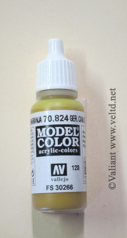 70824 Vallejo Model Color Paint: 17ml  German Camo Orange Ochre  (M128)