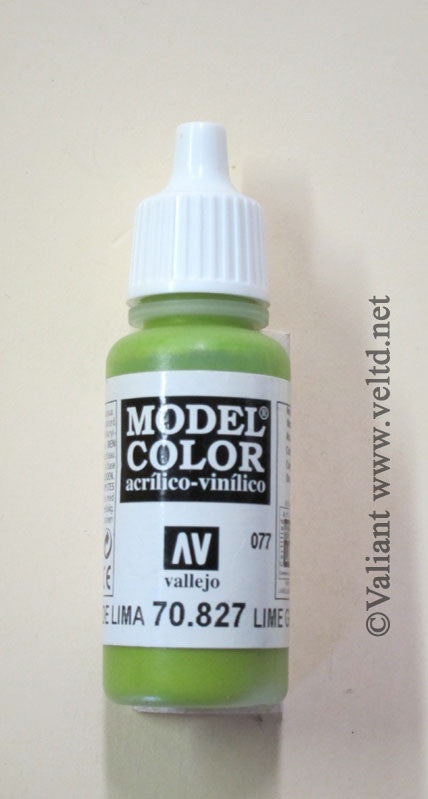 70827 Vallejo Model Color Paint: 17ml  Lime Green  (M077)
